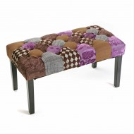 Banqueta Brown Patchwork Ref. 1160/19500404